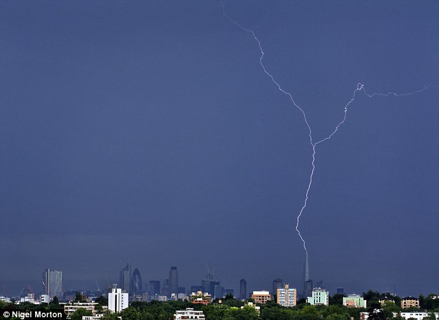 Lightning Hits the Shard London