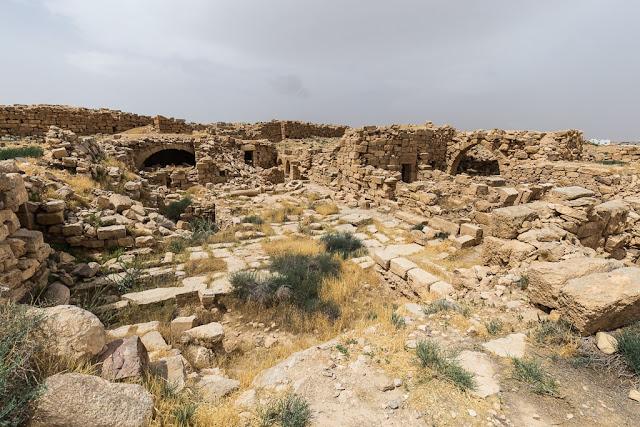Las ruinas de Umm ar-Rasas, Jordania