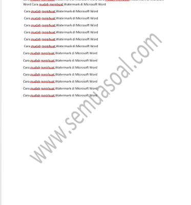 Cara Membuat Watermark di Microsoft Word