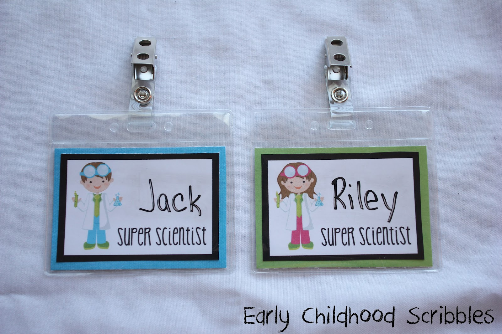 Science Tags: Early Childhood Scribbles: DIY Super Scientist Badges