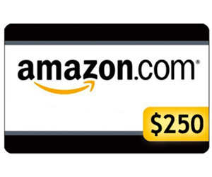 Enter the $250 Amazon Gift Card Giveaway. Ends 8/31. Open US/CA
