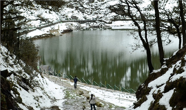 Tirthan Valley snow lake