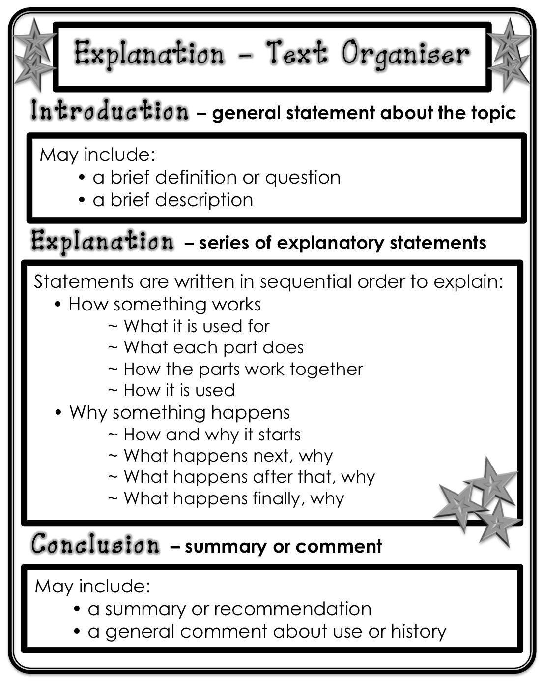 Classroom Treasures Explanation Writing Posters