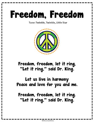 First Grade Bloomabilities: MLK Day Poem