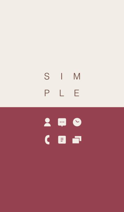 SIMPLE / bordeaux-beige