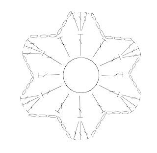 схема цветка для сандаликов