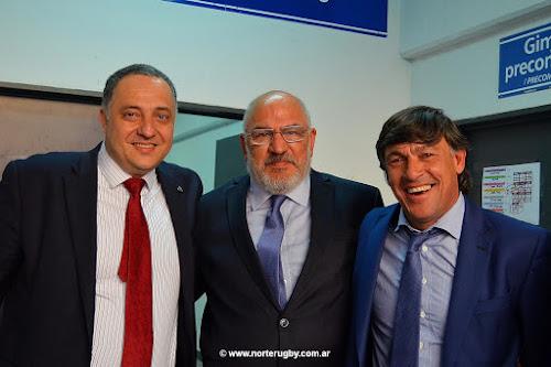 Carlos Araujo junto a Adolfo Mimessi y Daniel Hourcade