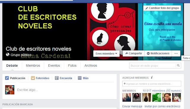 Club de escritores noveles. Elena Cardenal