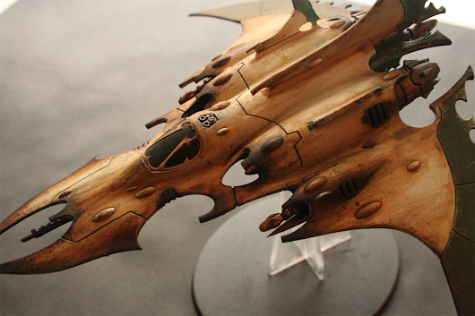 Razorwing Jet Fighter - Dark Eldar Painting Progress