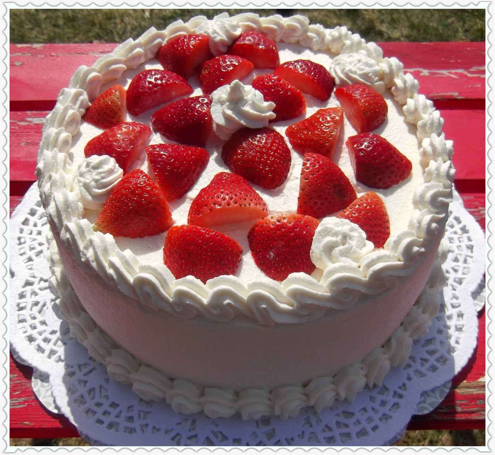 Rosie's Country Baking: Strawberry Shortcake Layer Cake
