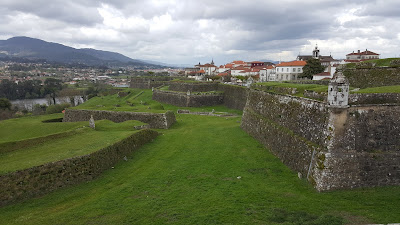 Beautiful scenery of the fortress in Valença, Portugal