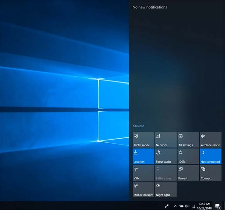 Action Center Rusak Pada Perangkat Windows 10 October 2018 Update?