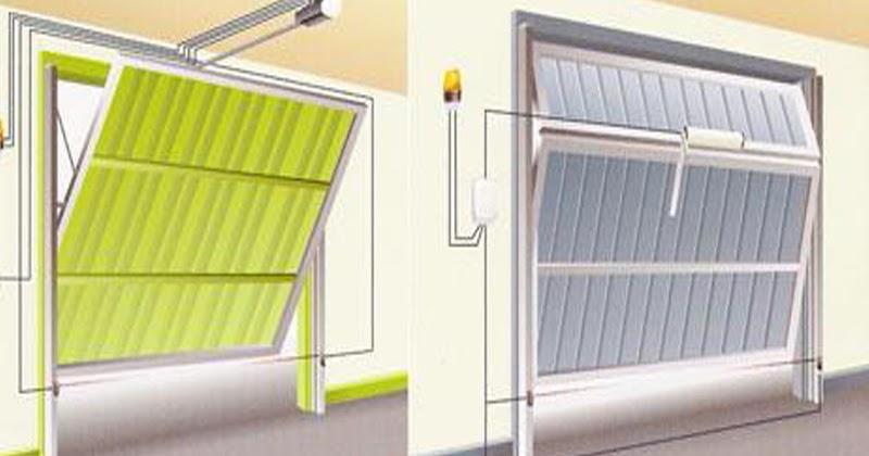 Puerta de garaje basculante cerramientos en tarragona for Puertas automaticas garaje