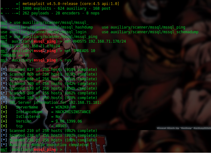 Security G33k: MSSQL Enumeration - Using Open Source