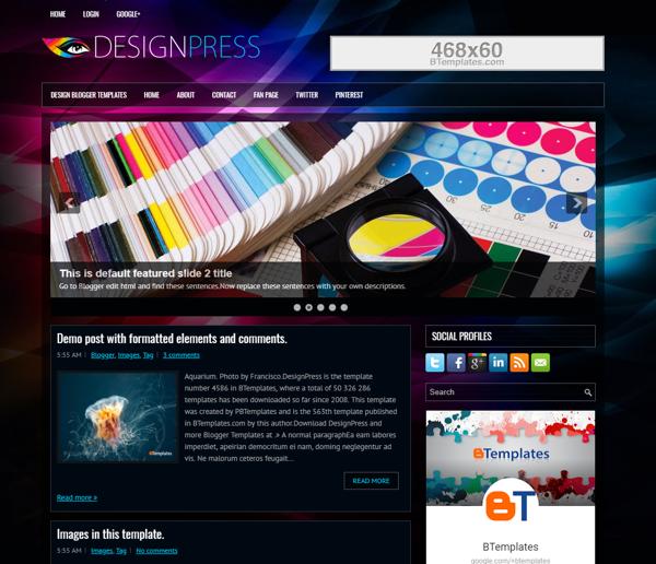 レスポンシブデザインのBlogger用テンプレート,Responsive design Template for Blogger, Blogger的响应式模板