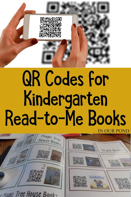 FREE QR Codes for Read Aloud Picure Books from In Our Pond.  Great for classroom use and daily 5 reading programs.  Encourage a love of books without being the one doing the reading.