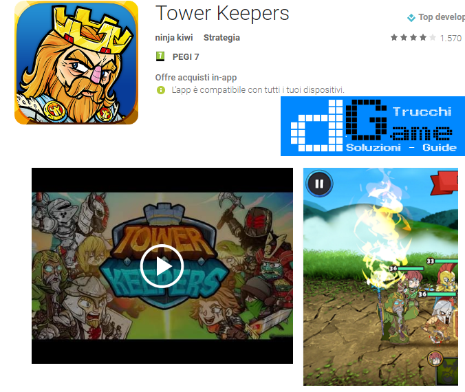 Trucchi Tower Keepers Mod Apk Android v1.5