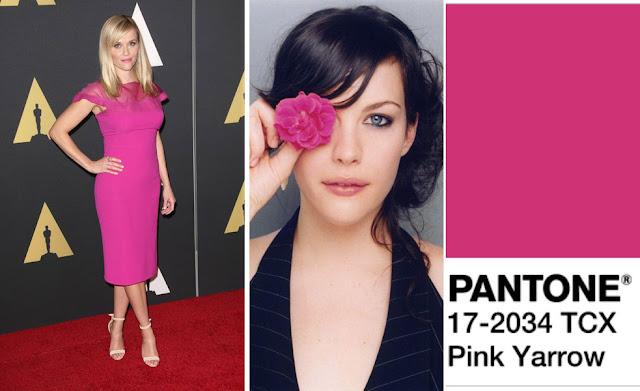Цвет Pantone 2017 года Pink Yarrow на блондинке и брюнетке