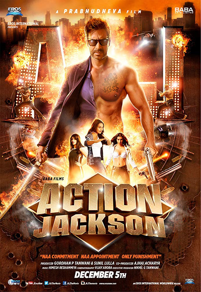 Action Jackson 2014 Hindi Movie 800MB HDRip Download