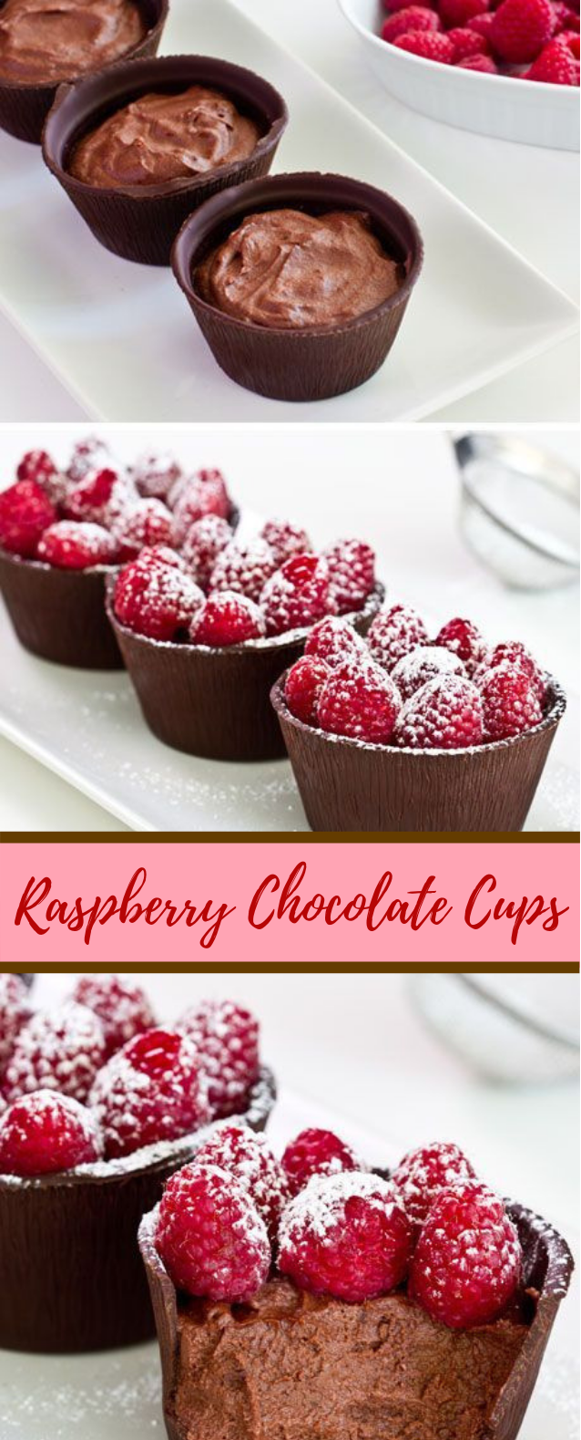 Raspberry Chocolate Cups #Chocolate #Dessert