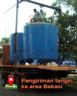 tangki filter air frp, mildsteel, pvc