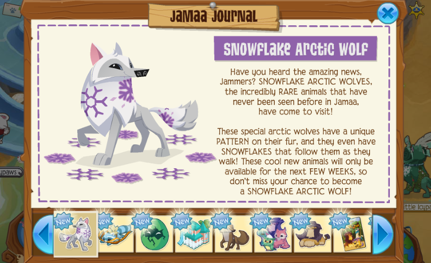 Image of: Arctic Fox The Snowflake Arctic Wolves Are Pretty Cool Im Also Really Glad That The Summer Carnival Is Back There Is Also New Pet In The Eggstravaganza The Animal Jam Spring The Animal Jam Spring Snowflake Arctic Wolves Returning Summer