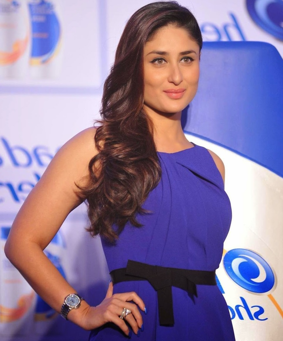 Kareena Kapoor Stills In Blue Dress