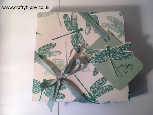 Stampin' Up! Dragonfly Dreams, 3D box, easy tutorial