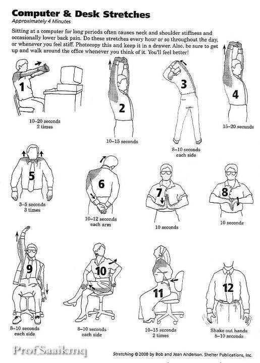 Healthy Homes and Families: Great Stretches for Computer