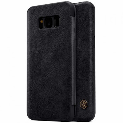 "Jual Nillkin Qin Leather Flip Case Samsung Galaxy S8 (5.8"") Black"