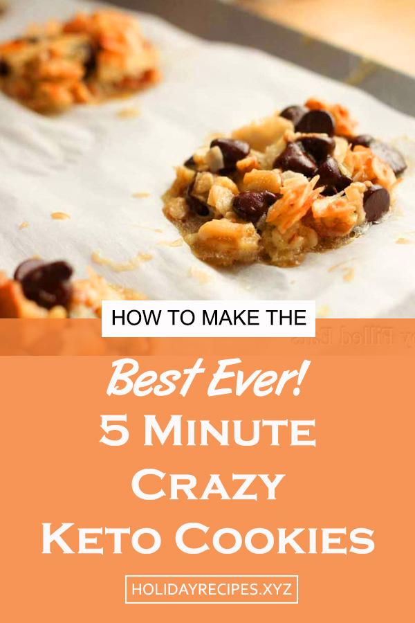 5 Minute Crazy Keto Cookies | keto cookie recipes, keto chocolate cookies, atkins cookies, keto cookies easy, ketogenic cookies, easy keto cookies, low carb chocolate cookies, ketogenic cookie recipes, keto cookies low carb #ketocookierecipes #ketogeniccookies #easyketocookies #lowcarb #ketogenic #keto