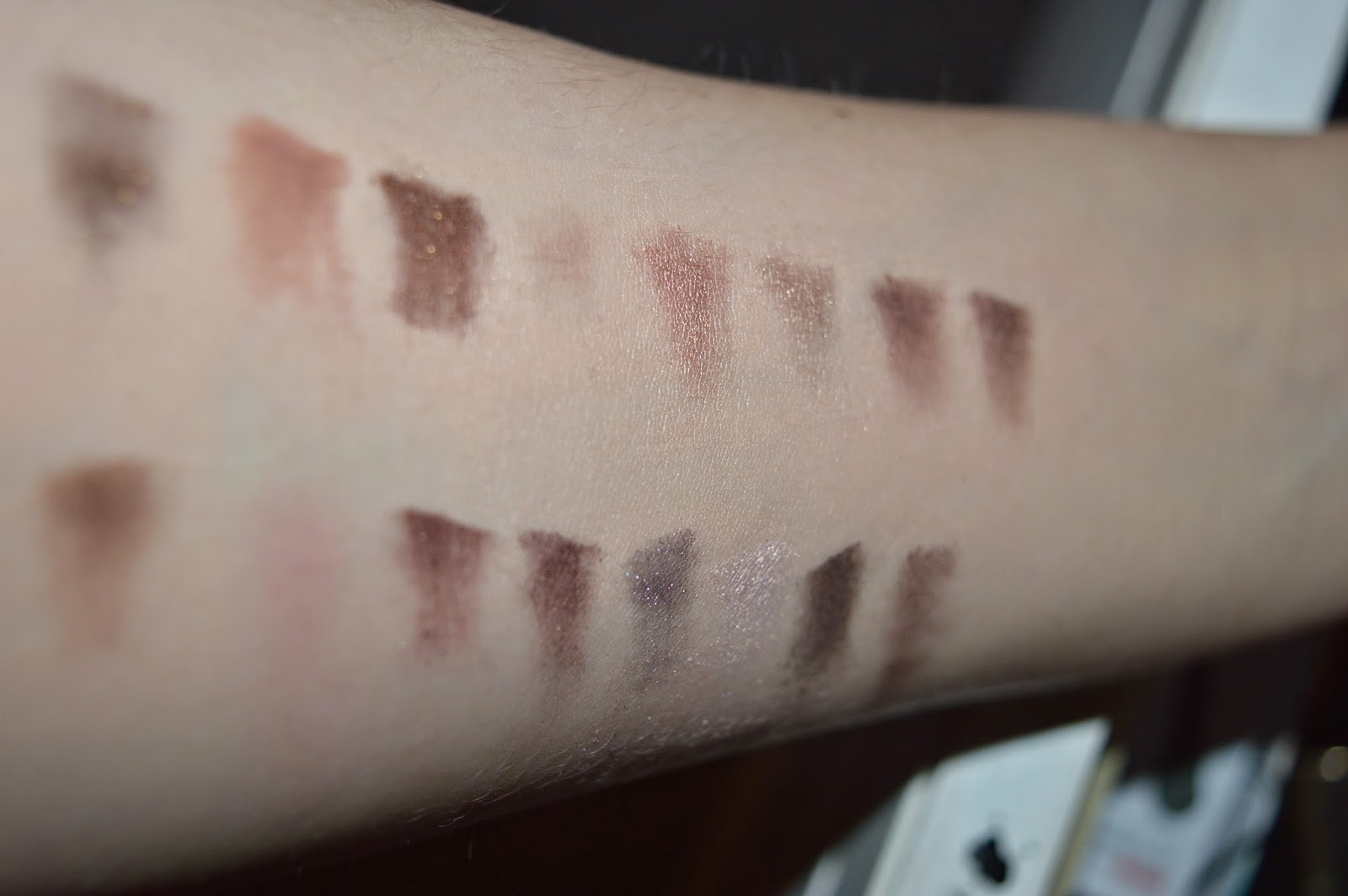 Too Faced Chocolate Palette Swatches