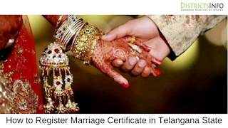 How to Register Marriage Certificate in Telangana State