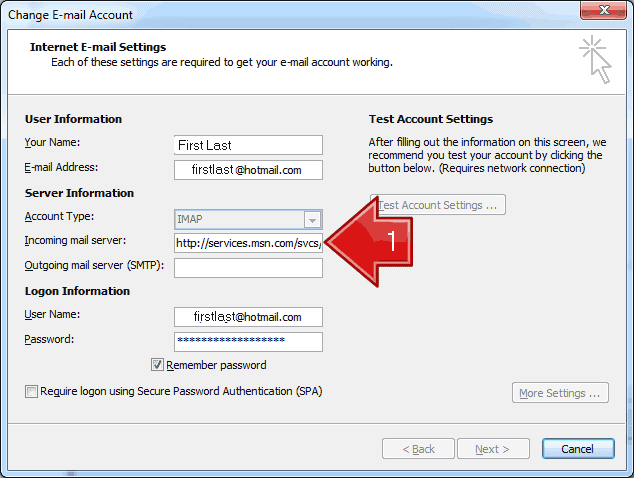 MetadataConsulting ca: Outlook Hotmail Account Overwritten