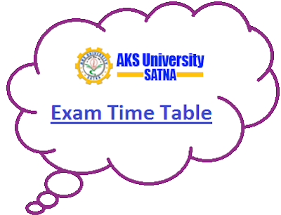 AKS University Even Sem Time Table 2020