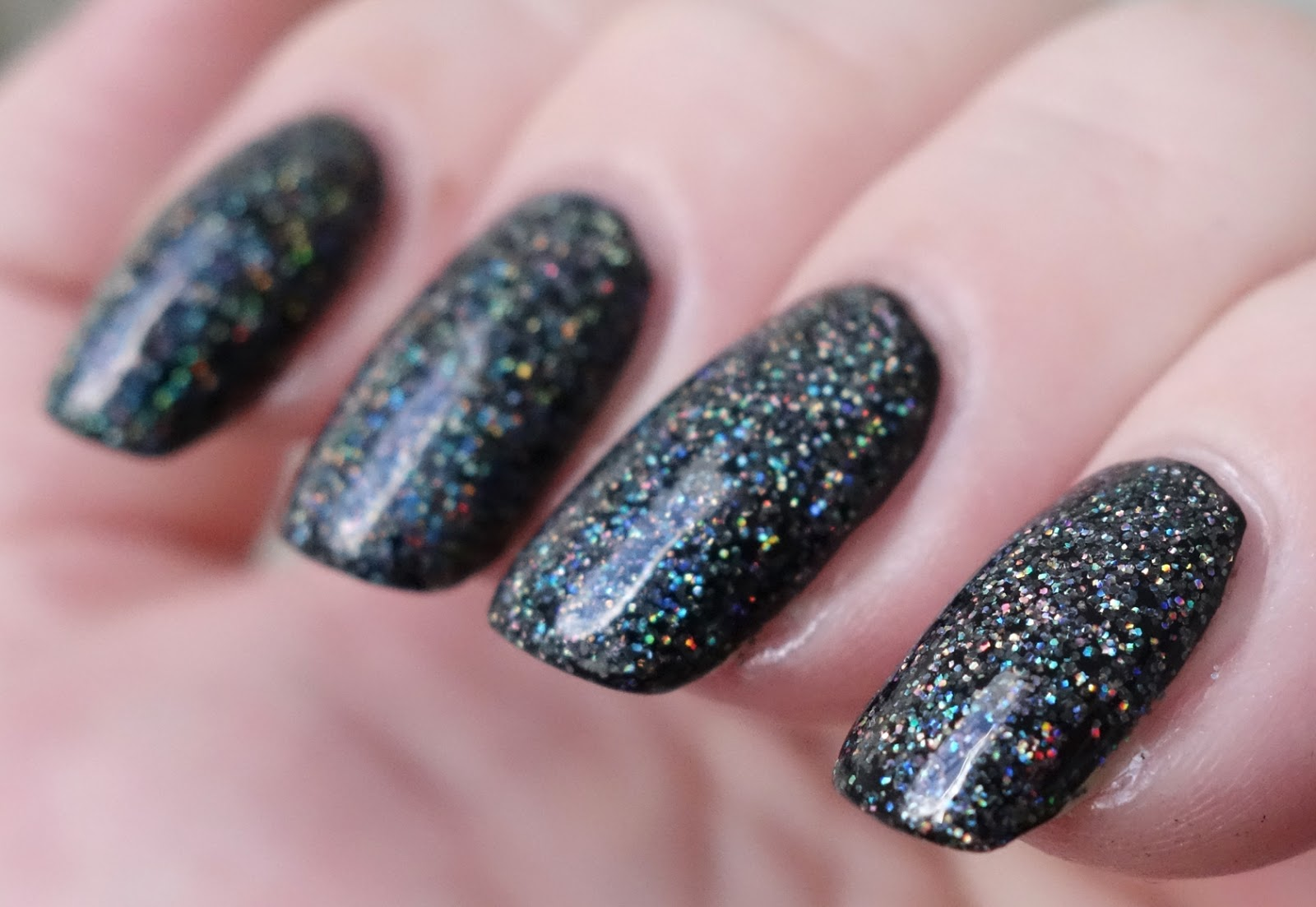 Holographic Nail Polish Black Witch - Creative Touch