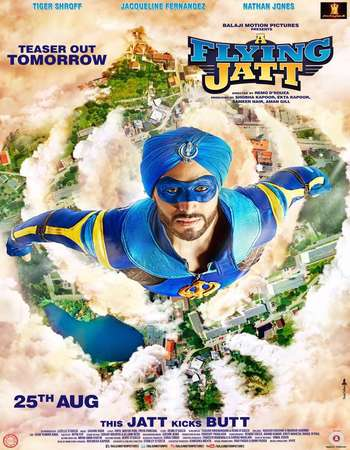 Poster Of A Flying Jatt 2016 Hindi 170MB DVDScr HEVC Mobile Watch Online Free Download Worldfree4u