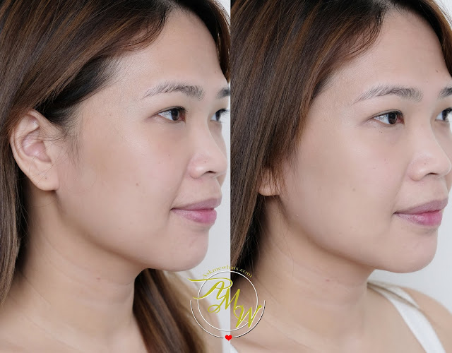 before and after photo of Silkygirl Skin Perfect Liquid Foundation review by Nikki Tiu of www.askmewhats.com