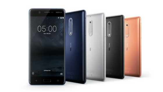 Nokia 5 comes in black, blue, copper and silver color variants