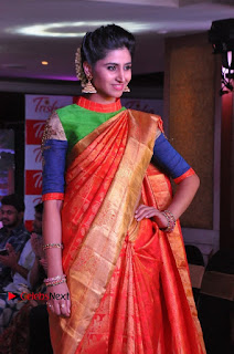 South Indian Celebrities Pos at Love For Handloom Collection Fashion Show  0133.jpg
