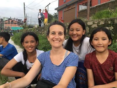 Patricia en el proyecto de Katmandú