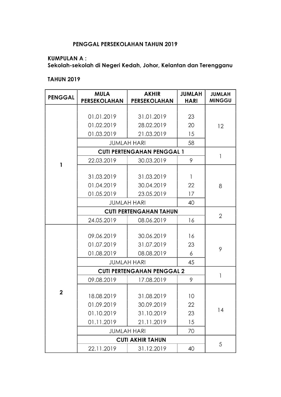 Malaysia School Holidays and Public Holidays 2019