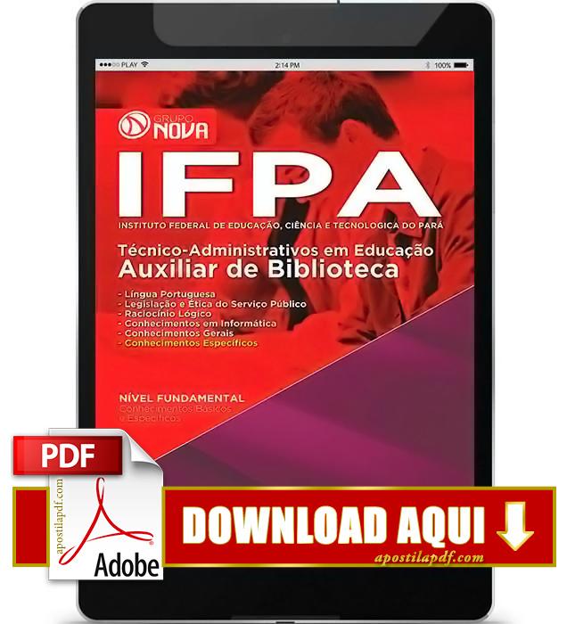 Apostila IFPA 2016 Auxiliar de Biblioteca PDF Download