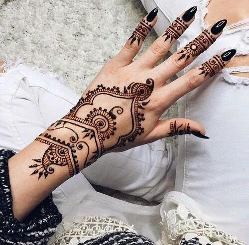 inspiration bagues de phalanges tatouages au henn. Black Bedroom Furniture Sets. Home Design Ideas