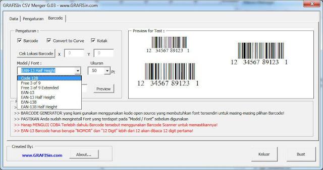 Otomatis Data, Foto Barcode CorelDraw