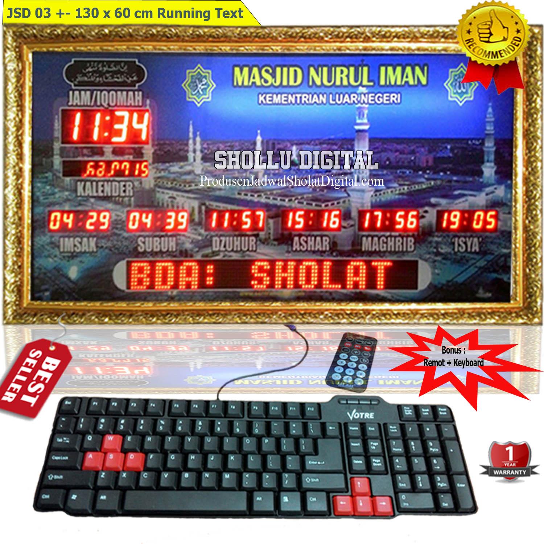 Toko Jam Jadwal sholat Digital Jakarta Selatan 08121409995 ... a3f368d3e3