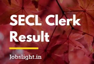 SECL Clerk Result