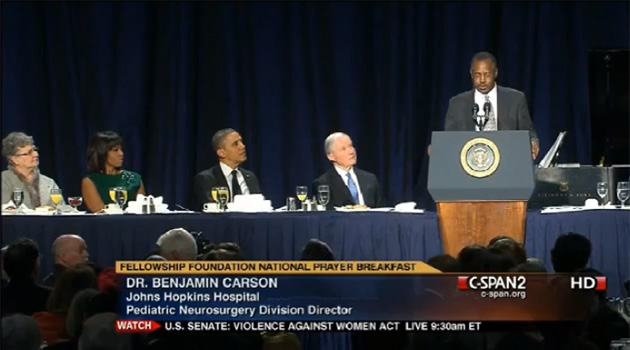 Dr. Benjamin Carson's Speech at the National Prayer Breakfast