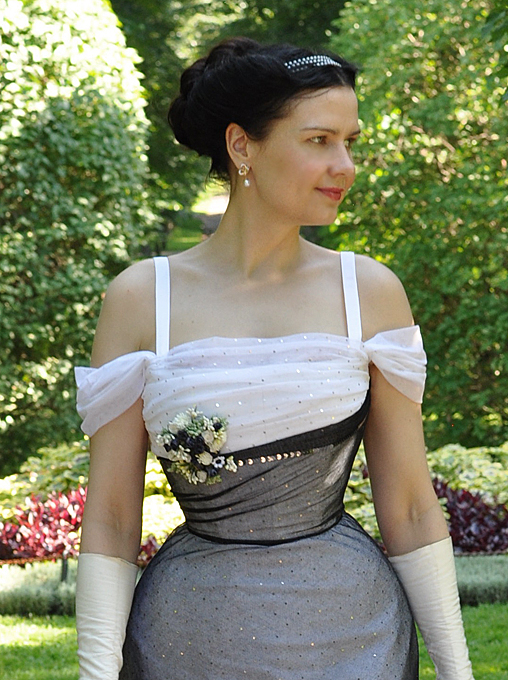 Before the Automobile: Edwardian evening gown