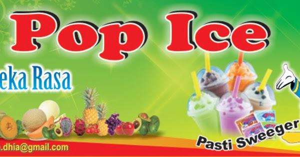 Banner Pop Ice Bubble - gambar spanduk